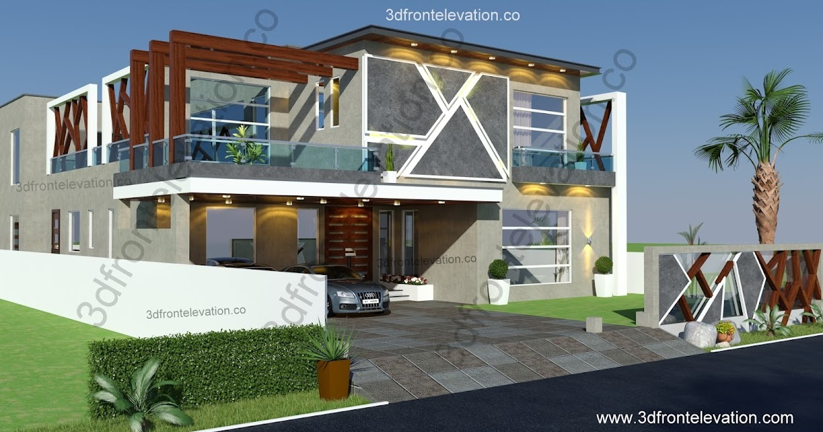 Front Elevation Of Houses In Islamabad : D front elevation luxury kanal house design for