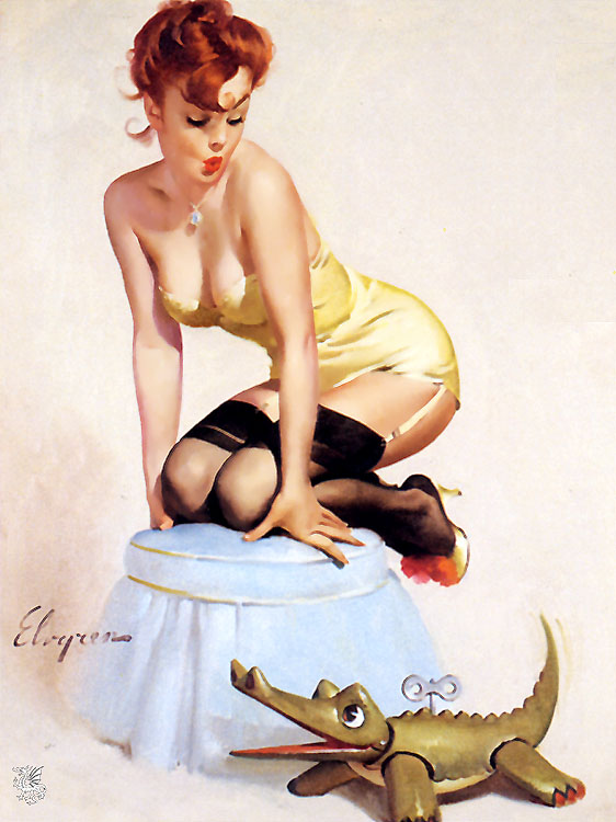 what do the old pin-up drawings from the 50s & 60s have to do with BDSM