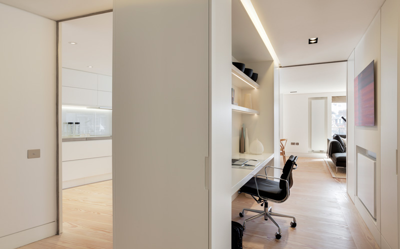 home office in solid surface
