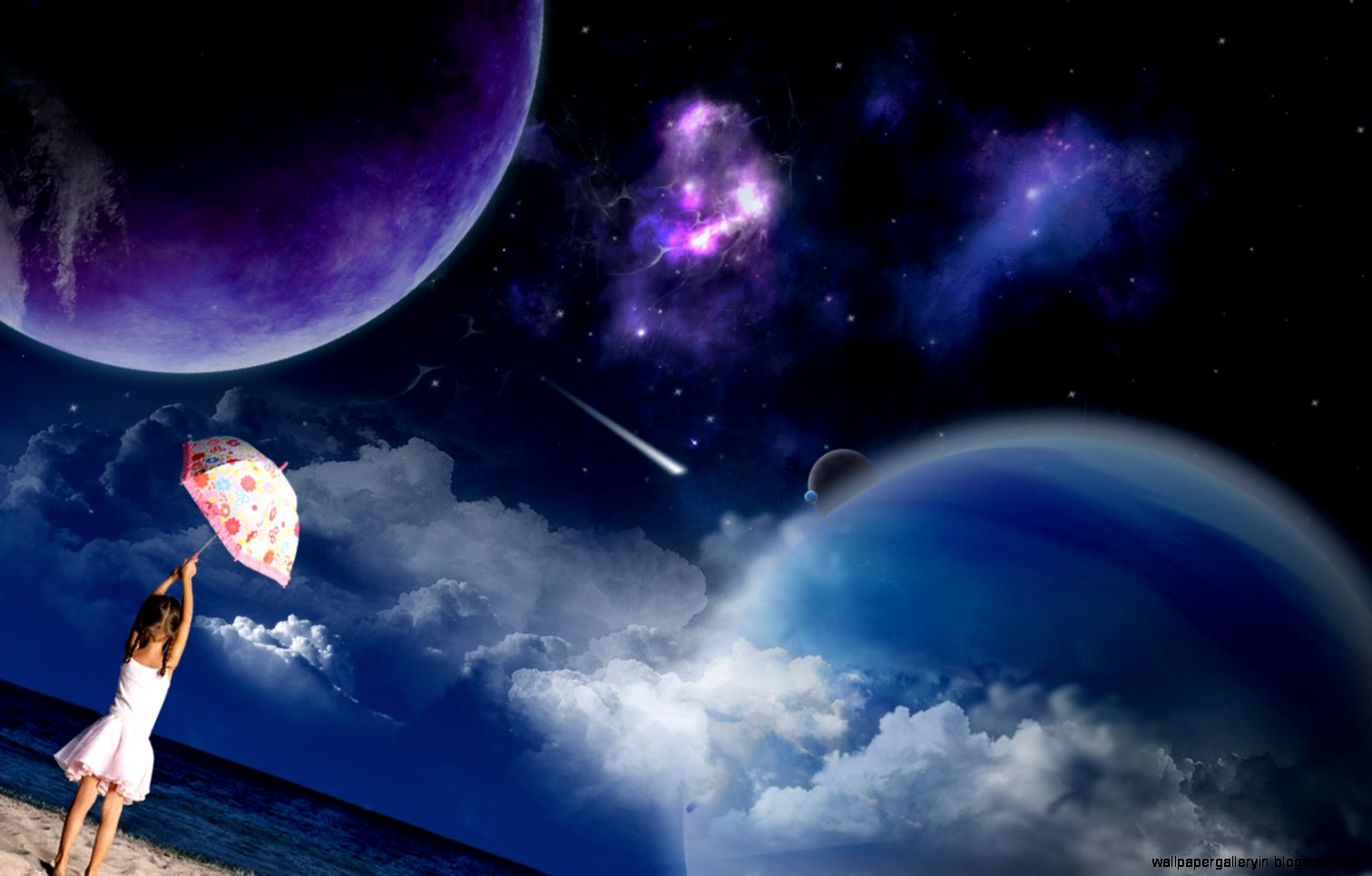 3d Space Background Wallpaper: 3D Space Planet Scene Brown Hd Wallpaper