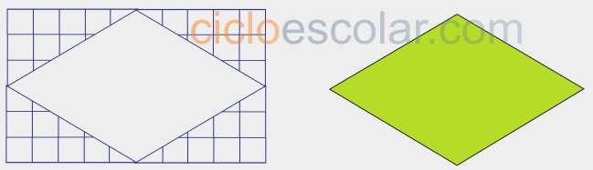 Como calcular el área de un rombo figura 2