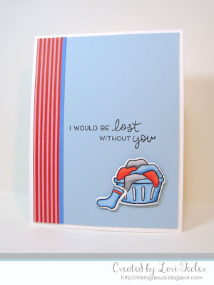 Lost Without You card-designed by Lori Tecler/Inking Aloud-stamps and dies from Lawn Fawn