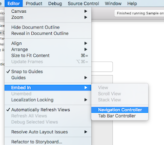 Editor -> Embed In -> Navigation Controller.