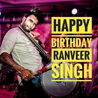 happy birthday Ranveer Singh 6th July 2018