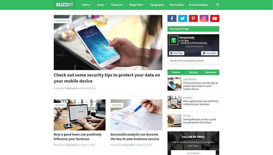 Buzzify v1.0 - Responsive Blogger Template