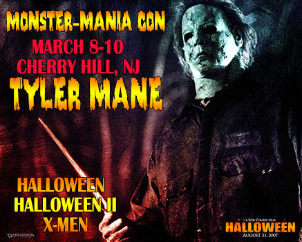 tyler mane who played michael myers in director rob zombies halloween 2007 and halloween ii 2009 has just been added to the lineup of celebrity