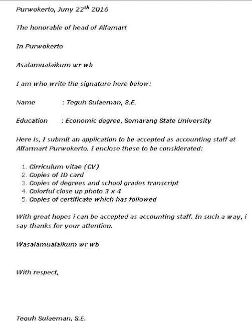 10 Contoh Surat Lamaran Kerja Dalam Bahasa Inggris Dan