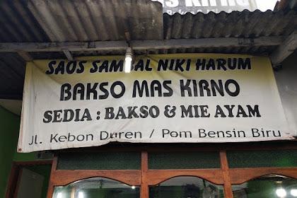 Bakso Mas Kirno di Kebon Duren Kalimulya Depok Rasanya Mantul
