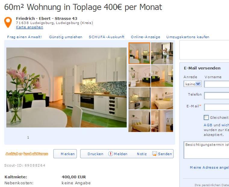 wohnungsbetrugblogspotcom marco_paweltooutlookcom 60m Wohnung in Toplage 400 per Monat