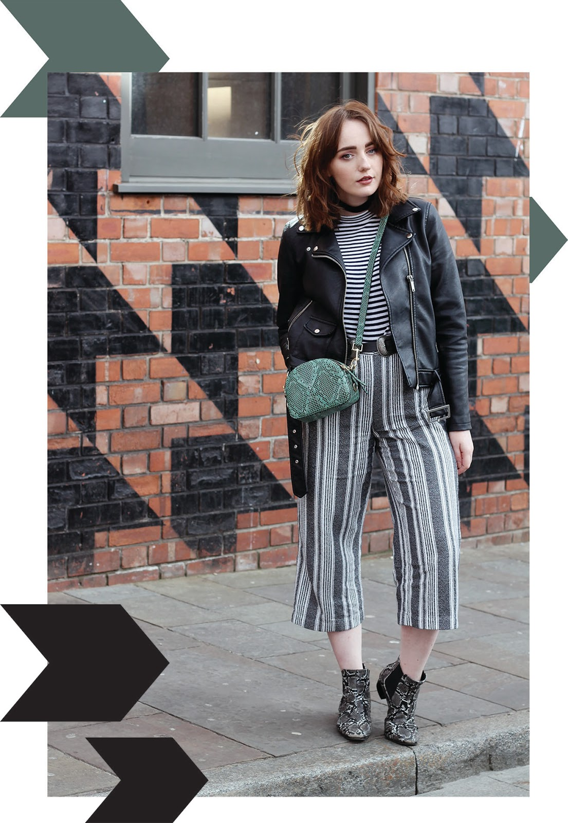 Liverpool fashion blogger ss17 outfit featuring stripes and snake print trend