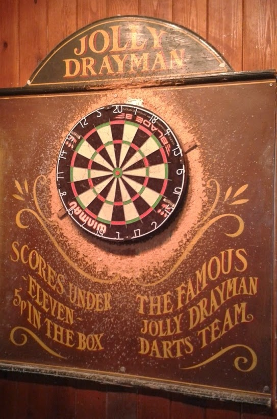 Darts at the Jolly Drayman pub in Gravesend, Kent