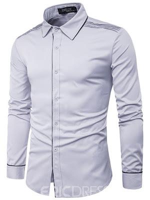 Ericdress Lapel Slim Long Sleeve Men's Shirts