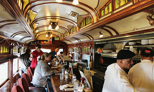 franks diner spokane train car