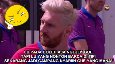 10 Meme 'Messi Berambut Pirang' Ini Heboh Banget Dijamin Bikin Ngakak!
