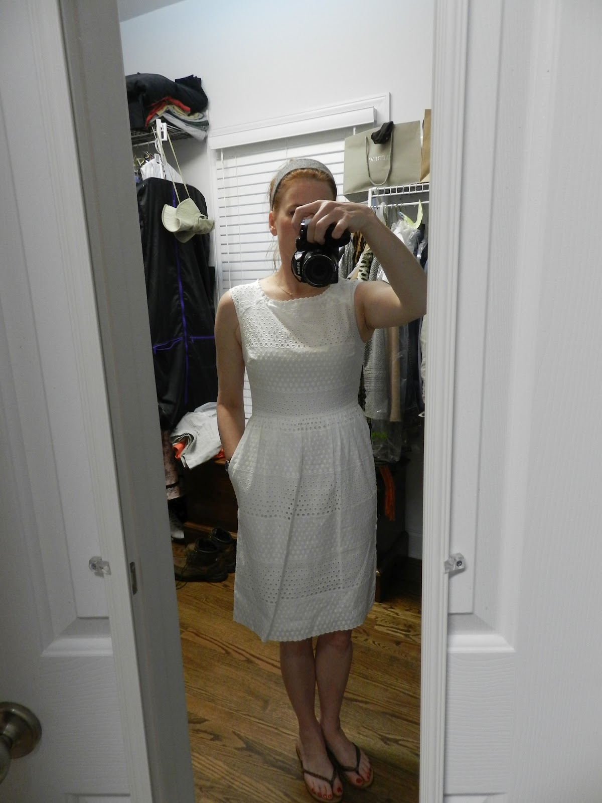 a5953eb9f86 TWEED AND TOILE  Review  J Crew Lucille Dress in Scalloped Eyelet