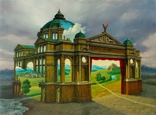 08-Theatre-World-Marcin-Kołpanowicz-Paintings-of-Creative-Surreal-Worlds-ready-to-Explore-www-designstack-co