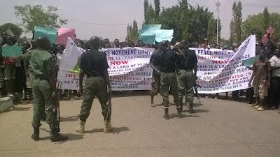 Anti-Zakzaky Protest In Kaduna