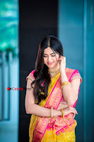 Actress Adah Sharma Exclusive Poshoot in Beautiful Yellow Silk Saree at Saree Niketan Showroom Launch  0002.jpg