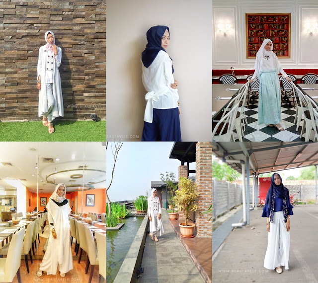 Mix and match outfit putih by diannopiyani
