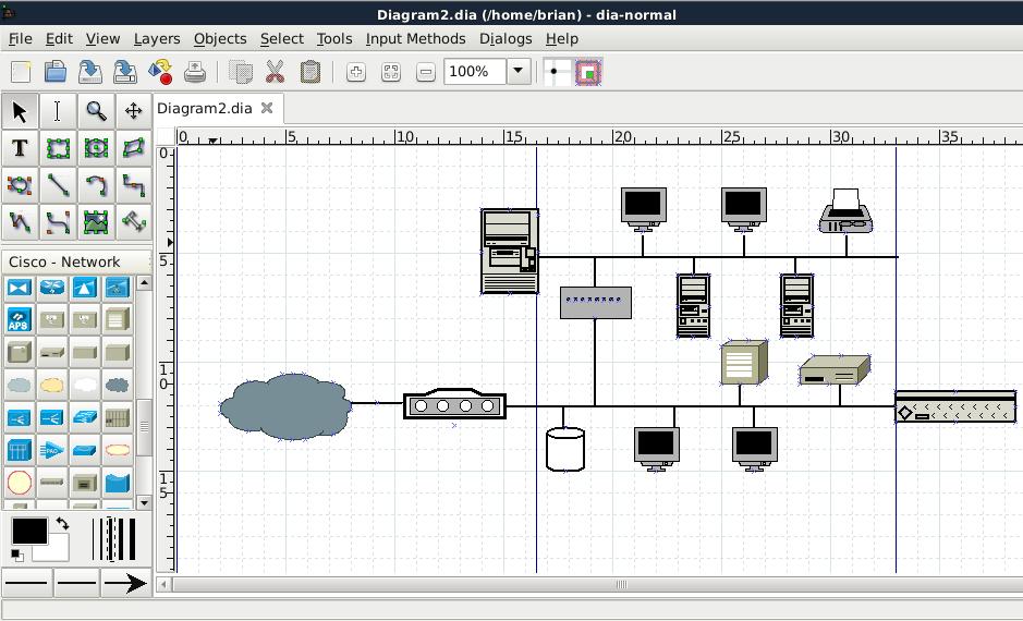 dia network diagram icons