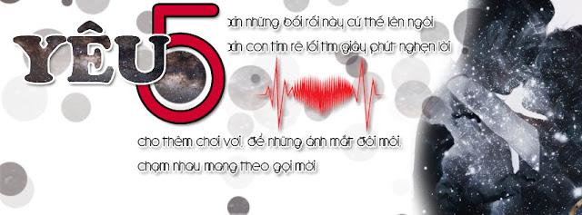 Yêu 5, yeu 5, ảnh bìa yêu 5, ảnh bìa tình yêu, ảnh bìa facebook, ảnh bìa đẹp