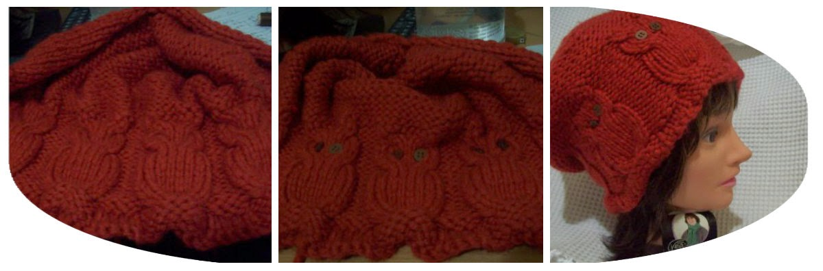 knit owl hats