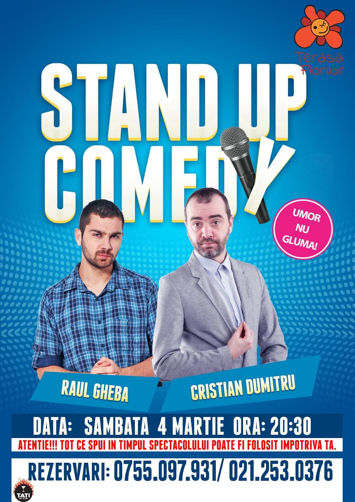 Stand-Up Comedy Sambata 4 Martie Bucuresti | Terasa Florilor