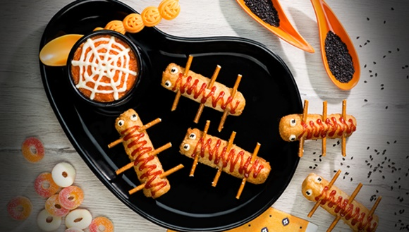 Dip De Salsa De Tomate Para Halloween