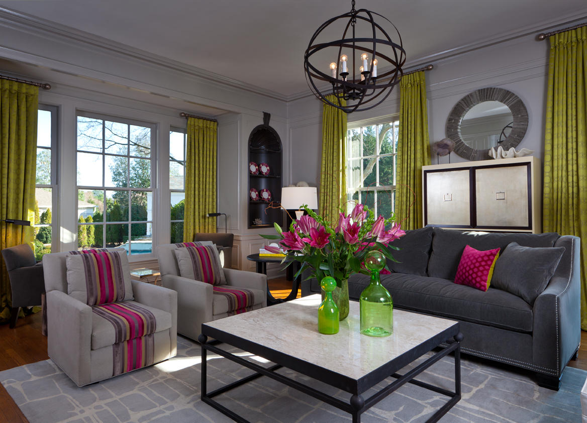 Lime Green Sofa Living Room Ideas Best Furniture Company Eye For Design Decorating Your Interiors With Pink And Grey