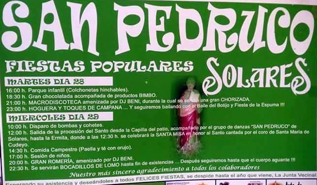 Fiestas de San Pedruco 2016 en Solares