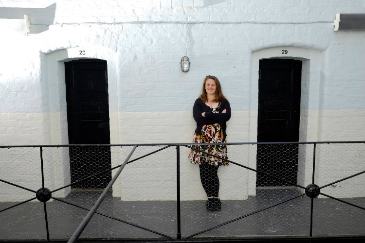 SMT Communications and Events Co-ordinator Georgie Samuels in the old jail
