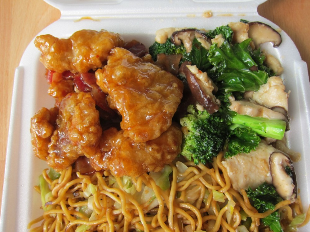 Review Panda Express Orange Chicken With Bacon Shiitake Kale Chicken Breast Brand Eating