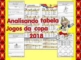 Tabelas jogos copa 2018