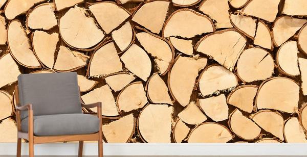 Lautaseinä Tapetti paneloitu tapetti puukuvioinen tapetti puujäljitelmä tapetti