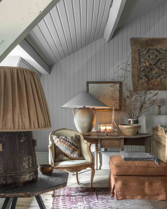 Beautifully decorated room with Belgian style by Natalie Haegeman - found on Hello Lovely Studio
