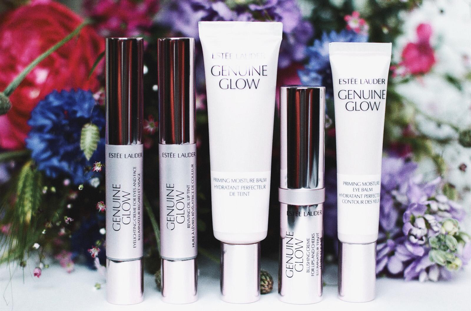 estee lauder genuine glow hydratant primer base yeux huile lèvres blush avis test swatches