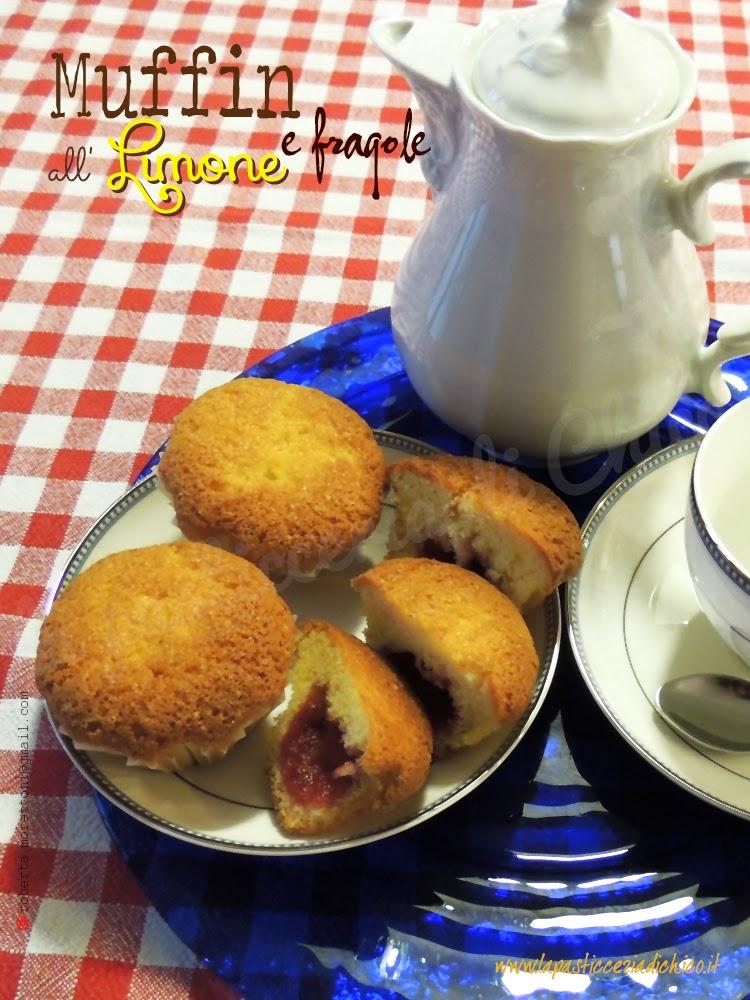 foto di Muffin al limone e fragole