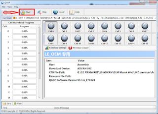 Cara Flash firmware file cpb via QGDP Tool