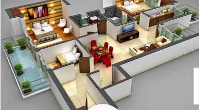 rancangan denah rumah minimalis mewah