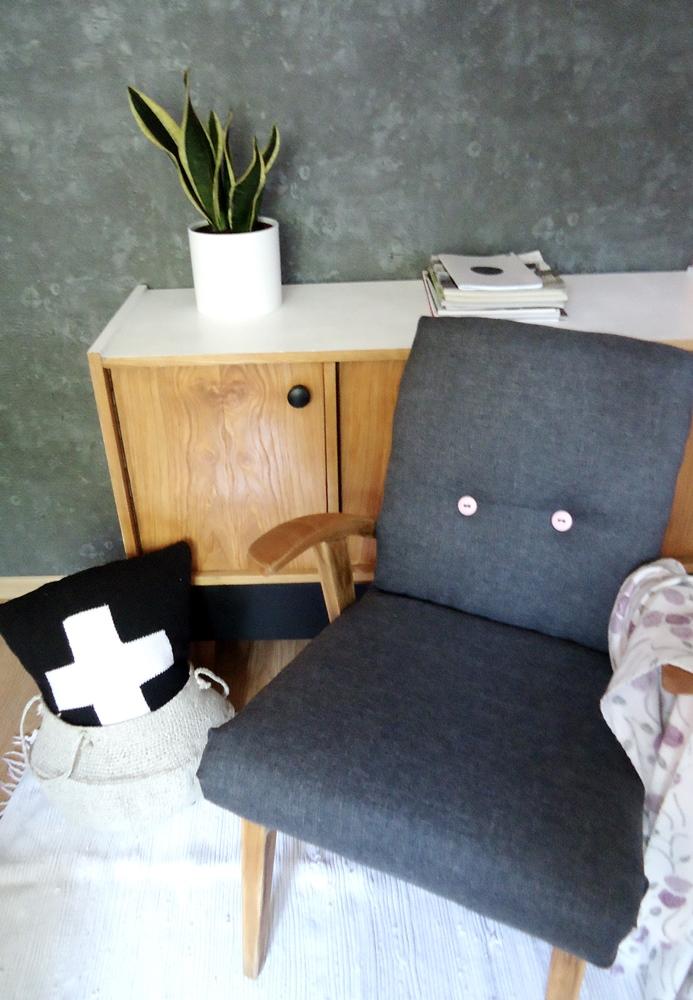 odnowiłam stary fotel