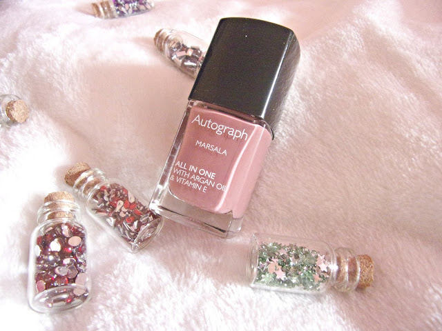 M&S Autograph Marsala nail polish