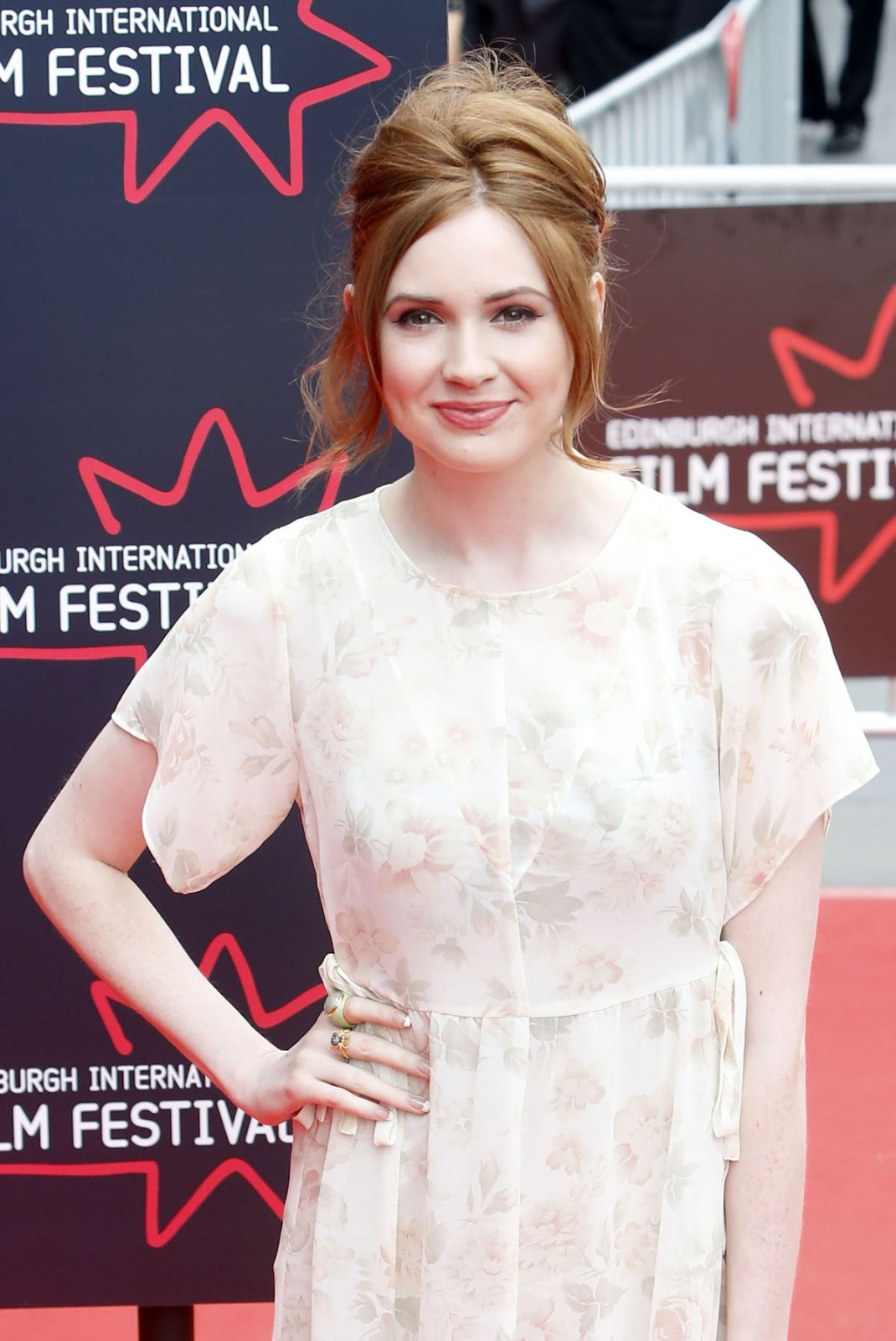 HD Photos of Jumanji actress Karen Gillan Attends Edinburgh Film Festival