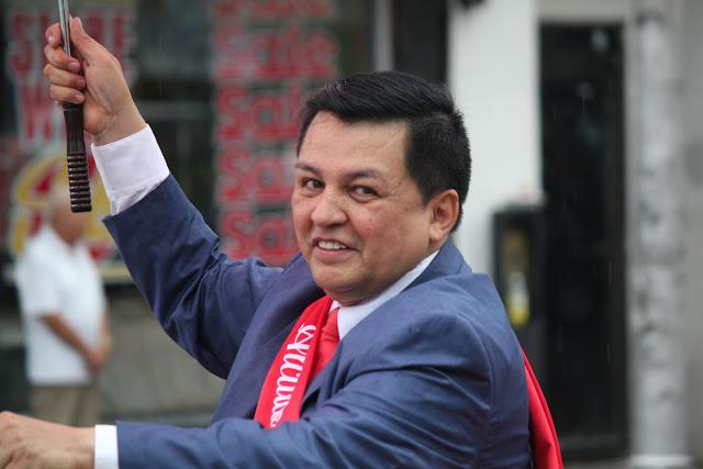 invitado especial en el  desfile peruano de New Jersey 2016