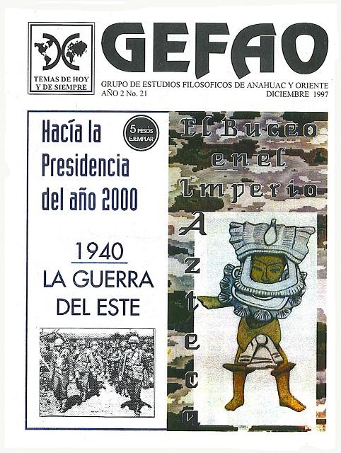 El Buceo en el Imperio Azteca, Revista GEFAO