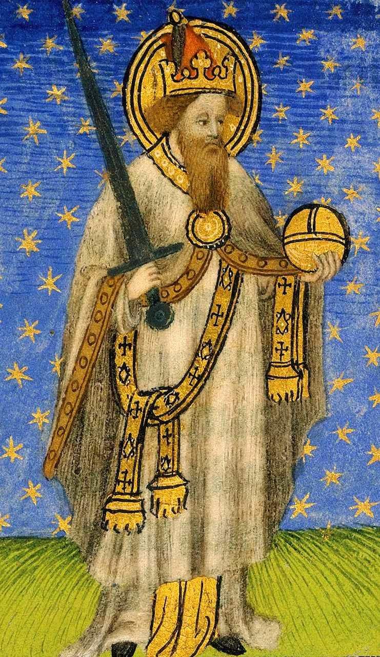 Carlos Magno, iluminura do século XV. British Library