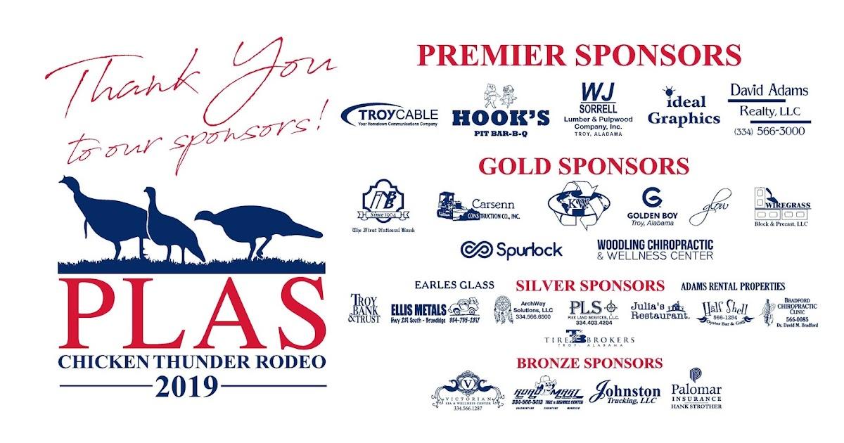 Pike Patriots 2019 Thunder Chicken Sponsors