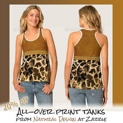 giraffe print all-over womens tank