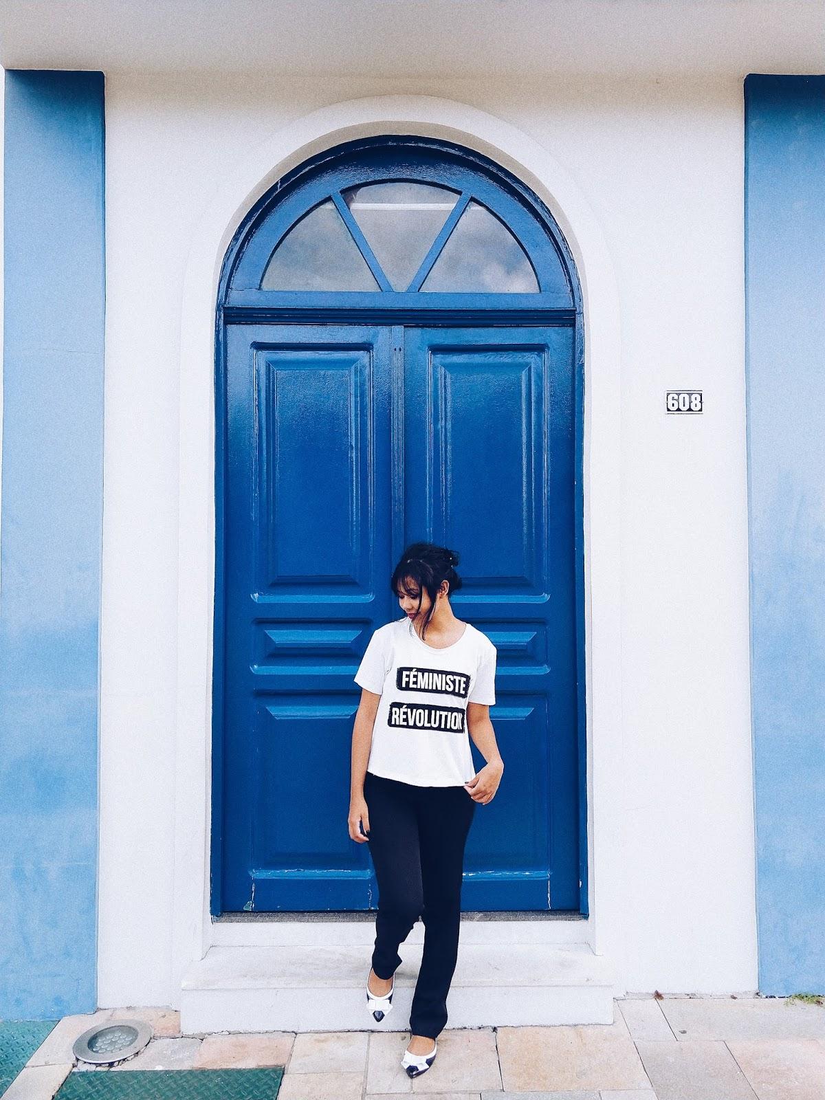Calça Social preta + Camisa Branca