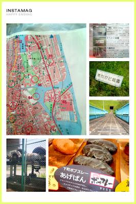 地図と訪れたチェックポイントの写真