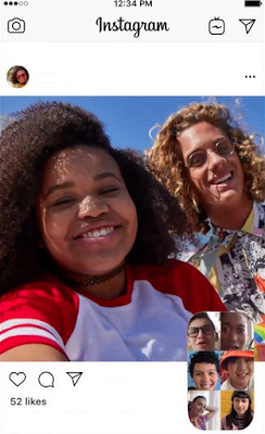 Cara Video Chat Berenam di Direct Messages Instagram